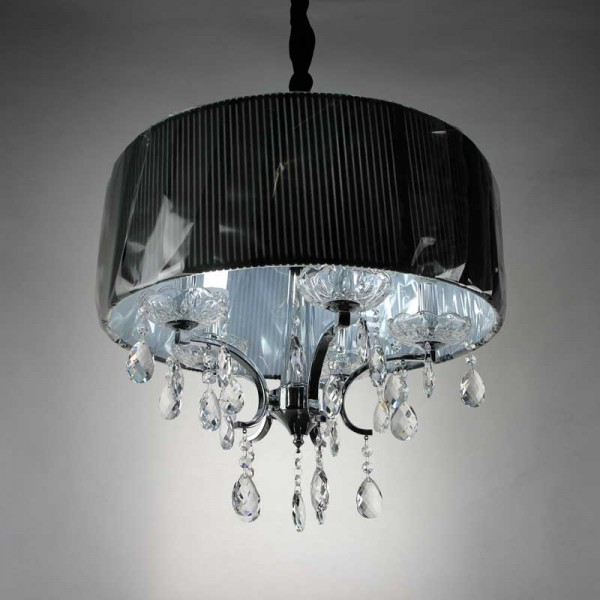 Fabric Shade Crystal Pendent Excell Lighting Whole
